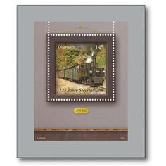 125 Jahre Steyrtalbahn - Briefmarken-Block postfrisch, Österreich Stamps, Poster, Polaroid Film, Frame, World, Postage Stamps, Seals, Picture Frame, Frames