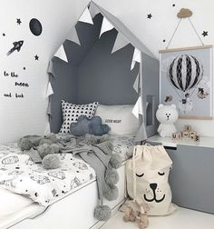 Ideas to Get an Original Kids' Headboard #kidsroom #kidsroomdecor