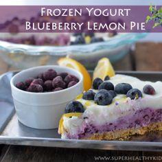 Layered Frozen Yogurt Blueberry Lemon Pie Recipe