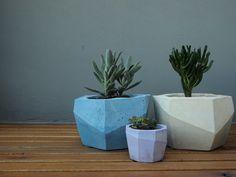 Maceteros con estilo!! Cómo hacer macetas decorativas con cemento