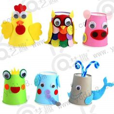 paper cup animal crafts « Preschool and Homeschool K Cup Crafts, Paper Cup Crafts, Easter Crafts, Diy And Crafts, Arts And Crafts, Diy Paper, Paper Cups, Animal Crafts For Kids, Diy For Kids