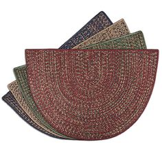 Multi-Colored Braided Rug 4' Polypropylene Fireplace Rugs | WoodlandDirect.com: Goods of the Woods #LearnShopEnjoy