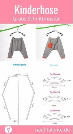 Gratis Schnittmuster Kinderhose aus Sweatshirt-Stoff #nähen #freebook #schnittmuster #gratis #nähenmachtglücklich #freesewingpattern #handmade #diy