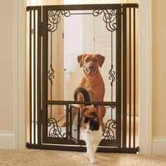 Reminiscent Of Elegant Fireplace Screens, Our Sturdy Bronze Finished Mesh  Pet Gates Are A