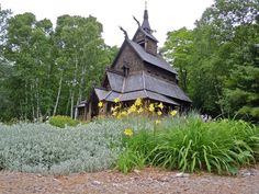 """The """"Stavkirke"""" art gallery on Washington Island, Door County, Wisconsin. View some of the barns that have been restored into galleries for art, music and community gatherings in Door County."""