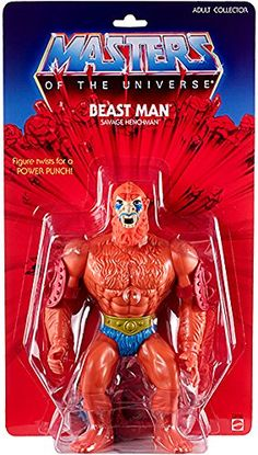 "Masters of the Universe Beast Man Exclusive 12"" GIANTS Action Figure. Official Matty Colelctor."