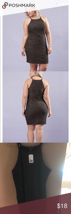 Plus Size Metallic Knit Dress Trendy metallic Plus size dress! Never used price tag still on dress👗 Forever 21 Dresses Mini