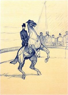 View 23 Works: Au Cirque & 22 tipped-in colour lithographed plates By Henri de Toulouse-Lautrec; Access more artwork lots and estimated & realized auction prices on MutualArt. Manet, Renoir, Henri De Toulouse-lautrec, Statues, Horse Posters, Circus Art, Classic Paintings, Art For Art Sake, Horse Art