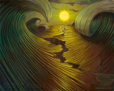 """""""Shifting Perception"""", a painting by Jay Alders. Inspired by the Japan Tsunami."""