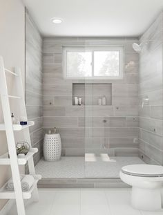Most Popular Small Bathroom Remodel Ideas on a Budget in 2018 This beautiful look was created with cool colors, and a change of layout. #bathroomremodel #smallbathroom #smallbathroomideas #ideasforsmallshowerspace