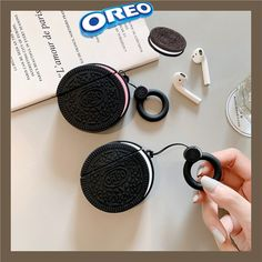 Funny Oreo Cookies Headphone Cases With Anti-lost Ring Lanyard For Apple Airpods Cute Silicone Earphone Protection Cover Cute Cases, Cute Phone Cases, Iphone 6, Iphone Cases, Strawberry Hearts, Earphone Case, Airpod Case, Air Pods, Oreo Cookies