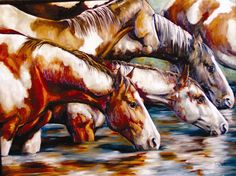 """""""Gather at the River"""" by artist Cathy Pegues- Located at The Good Art Company"""