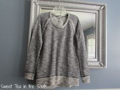 October 2014 Stitch Fix -- Farris French Terry Raglan Top by Kut From the Kloth