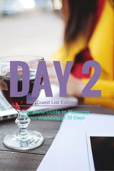 Day  Complete Guide To Planning Your Wedding In  Days  Http