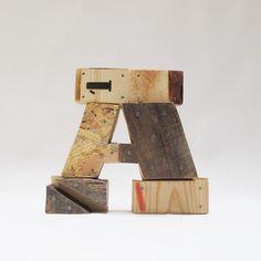 Wooden Letters: A by Pétula Plas