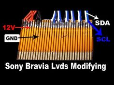 In this video about Sony Bravia panel replace and lvds modify. Sony Bravia LCD,LED TV,s panel replace by modifying LVDS. Sony Led Tv, Computer Maintenance, Crt Tv, Sony Electronics, Lcd Television, Electronic Circuit Projects, Tv Panel, Led Board, Electronic Schematics
