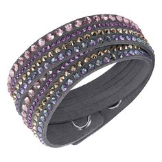 Swarovski Grey Deluxe Slake Bracelet - Geeves Jewellers - suppliers of watches and jewellery, London Swarovski Slake Bracelet, Swarovski Crystals, Crystal Jewelry, Diamond Jewelry, Jewelry Bracelets, Bangles, Jewellery, Fashion Jewelry, Jewels