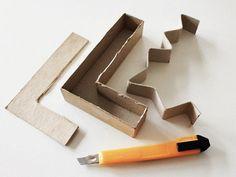 Tutoriel DIY: Mouler des lettres en ciment via DaWanda.com