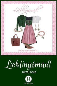 Süß in klassischen Dirndlfarben Grün und Rosa ist unser aktueller Dirndl-Style. Da wird das Madl garantiert zum Lieblingsmadl :-)