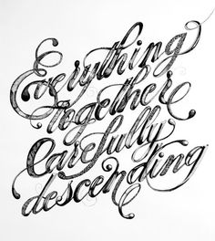 """Everything Together Carefully Descending"" was a type illustration created for the second Go Font Urself"