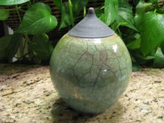 green raku   Green and Black Raku, stoneware, pottery,