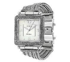 Ecclissi Sterling Square Case Multi-row Bracelet Watch