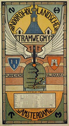 H.P. Berlage, Affiche van de Noordhollandsche Tramweg Maatschappij.