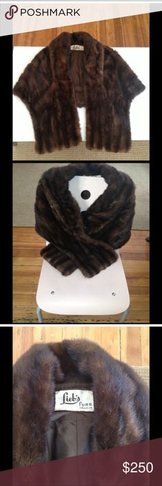 Lieb's Vallejo vintage mink stole Mink stole from the 1960s, Lieb's Vallejo, excellent condition -- only one minor tear (picture 4) easily fixable. Other