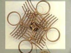 Quandary - kinetic sculpture by David Roy © 2009 (I would not get anything done all day if that were on my wall! Wind Sculptures, Kiosk Design, Mechanical Art, Kinetic Art, Weird Shapes, Light And Space, Wood Creations, Woodworking Jigs, Op Art