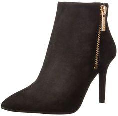 Jessica Simpson Women's Lafay Boot, Black Suede, 5.5 M US