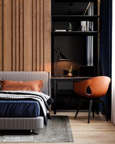 Masculine And Modern Man Bedroom Design Ideas 24 Men's Bedroom Design, Hotel Room Design, Bed Design, House Design, Modern Bedroom Furniture, Home Decor Bedroom, Furniture Design, Modern Mens Bedroom, Men Bedroom