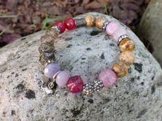 Winged Heart Bracelet Austera Peak  Jade by HarborGirlDesigns