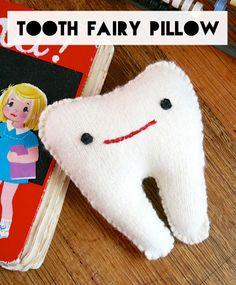 sew: felt tooth pillow DIY || my poppet