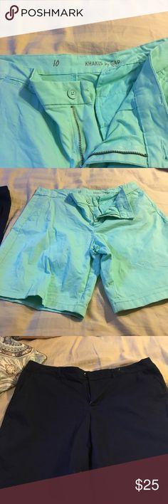 Khaki shorts gap Blue and sea foam green khakis.  Size 10. Gap Gap Shorts