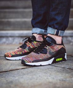 the latest 0b3a9 1e1fd Nike Air Max 90 x Ultra 2.0 Flyknit Multi-Color Vans Sneakers, Running  Sneakers