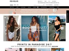 Website Design Inspiration of the day - Revolve #thehotskills #web #website #design #inspiration #showcase #gallery