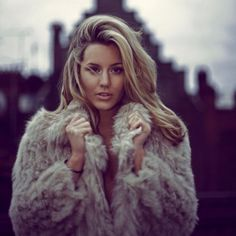 Made in Chelsea's Caggie Dunlop in lush fur coat