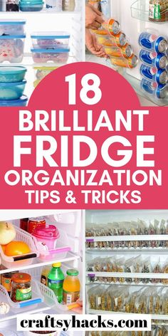 These fridge organization tips will help you organize food and kitchen. Transform your kitchen with these simple organizing hacks. Organisation Hacks, Organizing Hacks, Planning And Organizing, Organizing Your Home, Storage Organization, Organizing Clutter, Organising, Kitchen Organization, Organized Mom