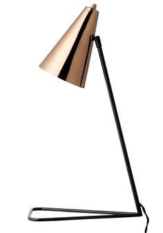 Freja copper table lamp
