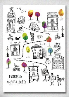 Amaia Arrazola Illustration  This would be fun as a map of my own little town and my favorite places.