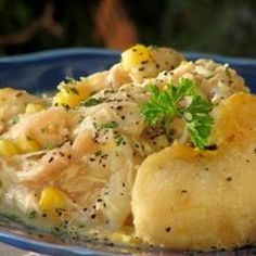 "From reader Elizabeth Connor: Slow Cooker Chicken and Dumplings: ""love this recipe, it's so easy!"""