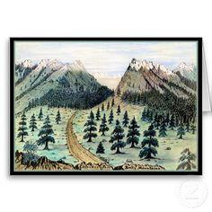 Cherokee Pass Rocky Mountains Cards