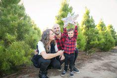 Family Holiday Photos at the Christmas Tree Farm in Silverado, CA. Photo by Indiana Jane Photography