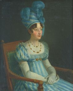 A portrait of Marie Therese Charlotte, Duchesse d'Angouleme. It was painted by Joseph Roques in 1823, shortly before she would become Dauphine of France.