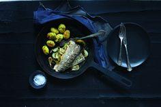 Ryba s cibulí a paprikou