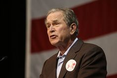 Former President George W. Bush speaks during a campaign rally for his brother Jeb Bush, a Republican presidential hopeful, at the Coliseum & Performing Arts Center in North Charleston, South Carolina, on February 15, 2016. (Jim Wilson / The New York Times)