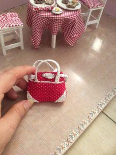Sinny's Hand Made Miniature purse red hand made by SinnysMiniArt