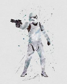 Storm Trooper Star Wars Watercolor Art