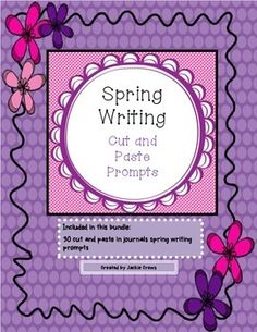 "This is the full product of my spring  cut and paste prompts.  These prompts are designed to be cut and pasted into student writing journals to save on making so many copies at school. There are 30 different prompts that can be used in literacy centers, for ""bell"" work, or journal writing activities.  Many of the graphics are in color but print fine in gray-scale.  I think you will be pleased with the detail and work that has gone into these prompts."