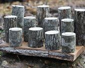 SALE Candle Holders 12 natural tree branch tea light holders for decorations, parties